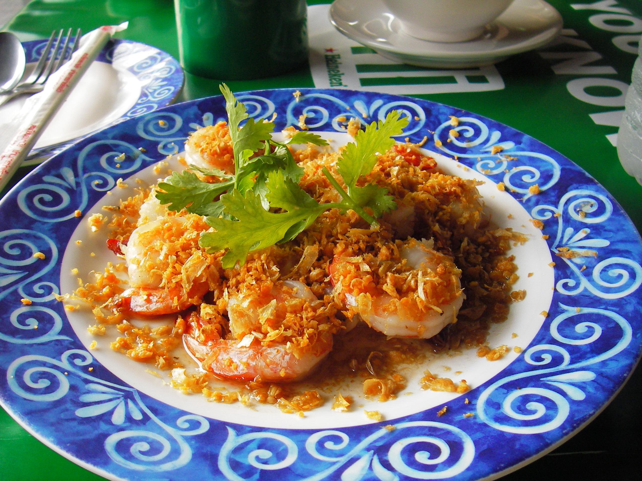 thai garlic prawn recipe goong kratiem prik thai pranee s thai