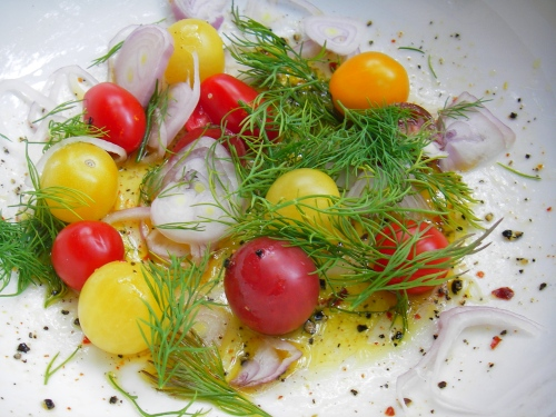 Chili-Lime Vinaigrette, tomato and dill