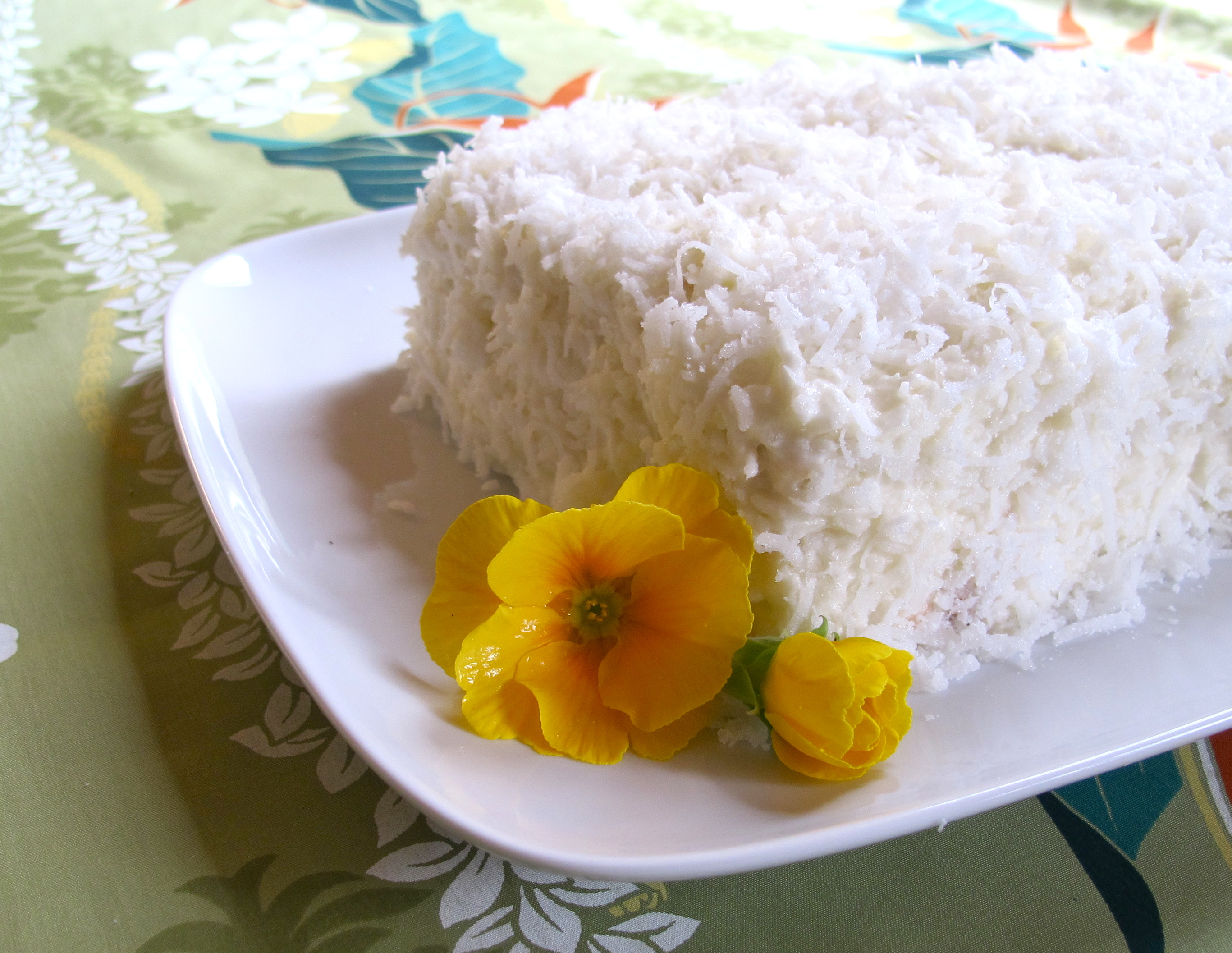Pranee's Coconut Cake with Coconut Frosting