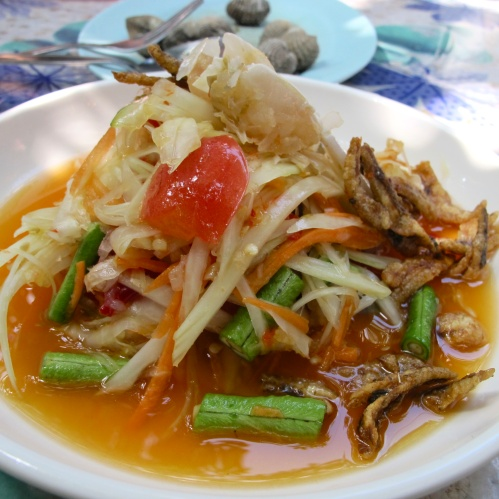 Green Papaya Salad with Anchovy and Blue Crab
