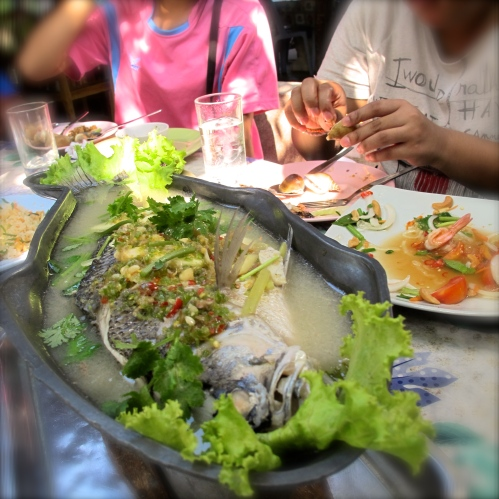 Pla Nuang Manao ~ Steamed Fish in Lime Juice