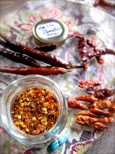 พริกป่นคั่ว -Prik Phon Khua - Roasted Chili Powder