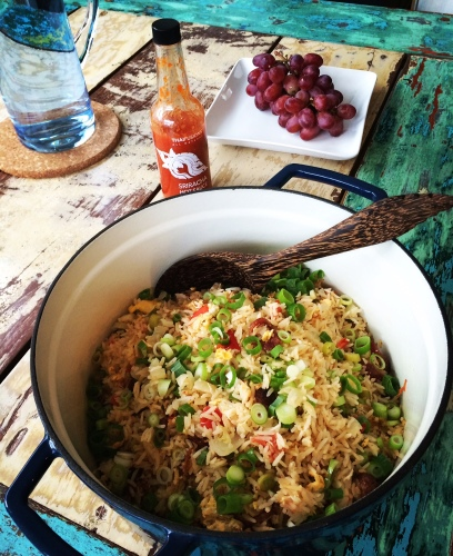 Thai Fried Rice with Chinese Sausage