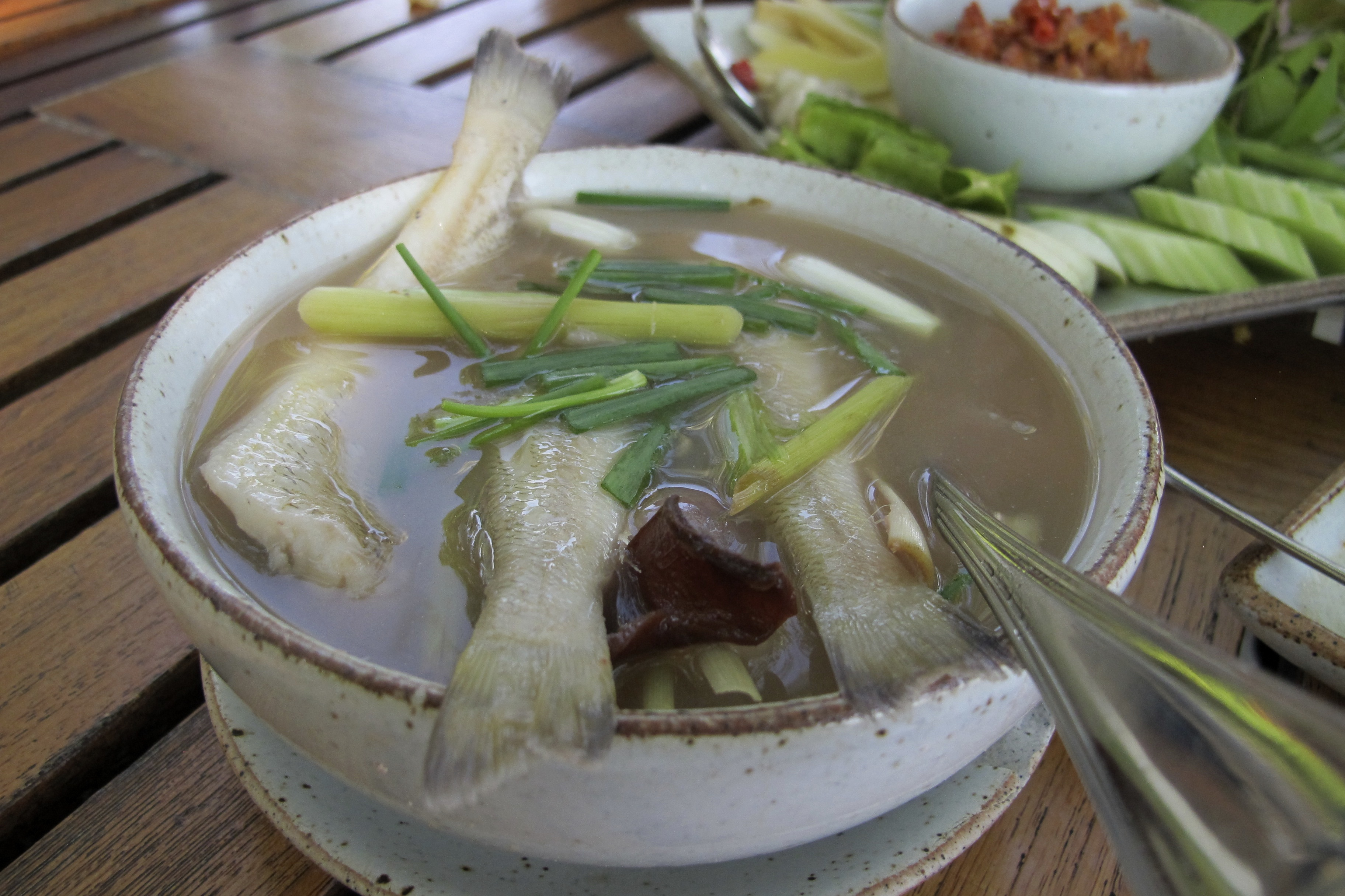 Phuket sand whiting fish soup recipe tom som pla sai for How to cook whiting fish