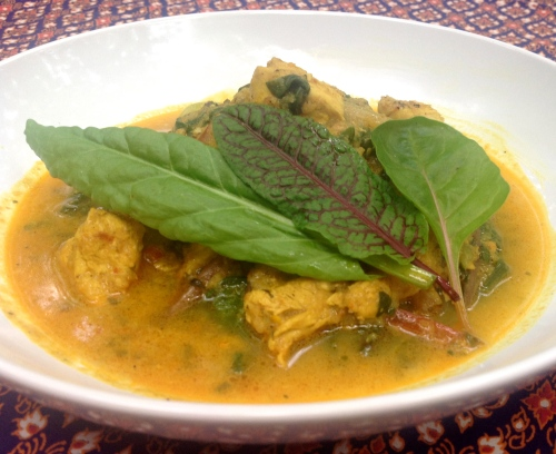 Khmer Chicken Curry with Sorrel