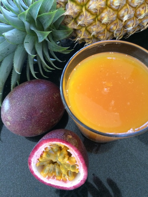 passion fruit - pineapple spread
